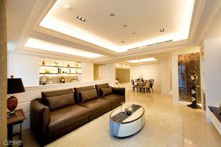 混搭风格大户型温馨客厅设计