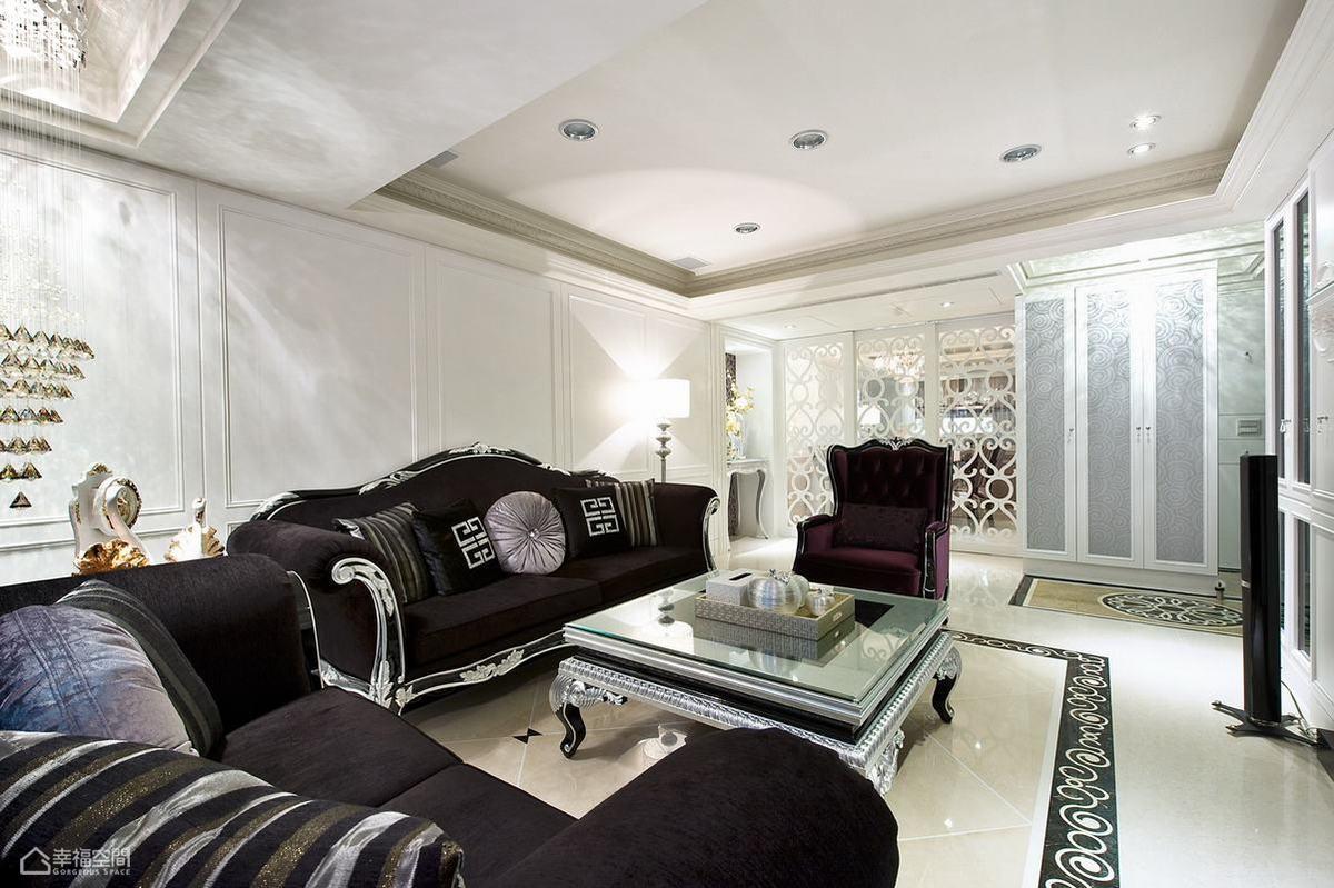新古典风格奢华客厅旧房改造家装图片