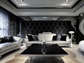 黑色时尚华丽宅 品味不凡气度