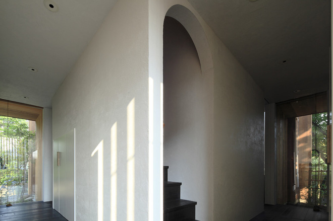 用墻來定義樓梯空間
