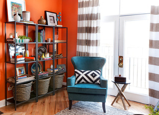 蓝色和橙色是互补的颜色
