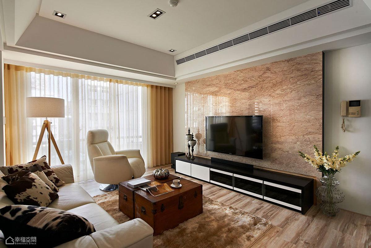 简约风格时尚客厅旧房改造家装图片
