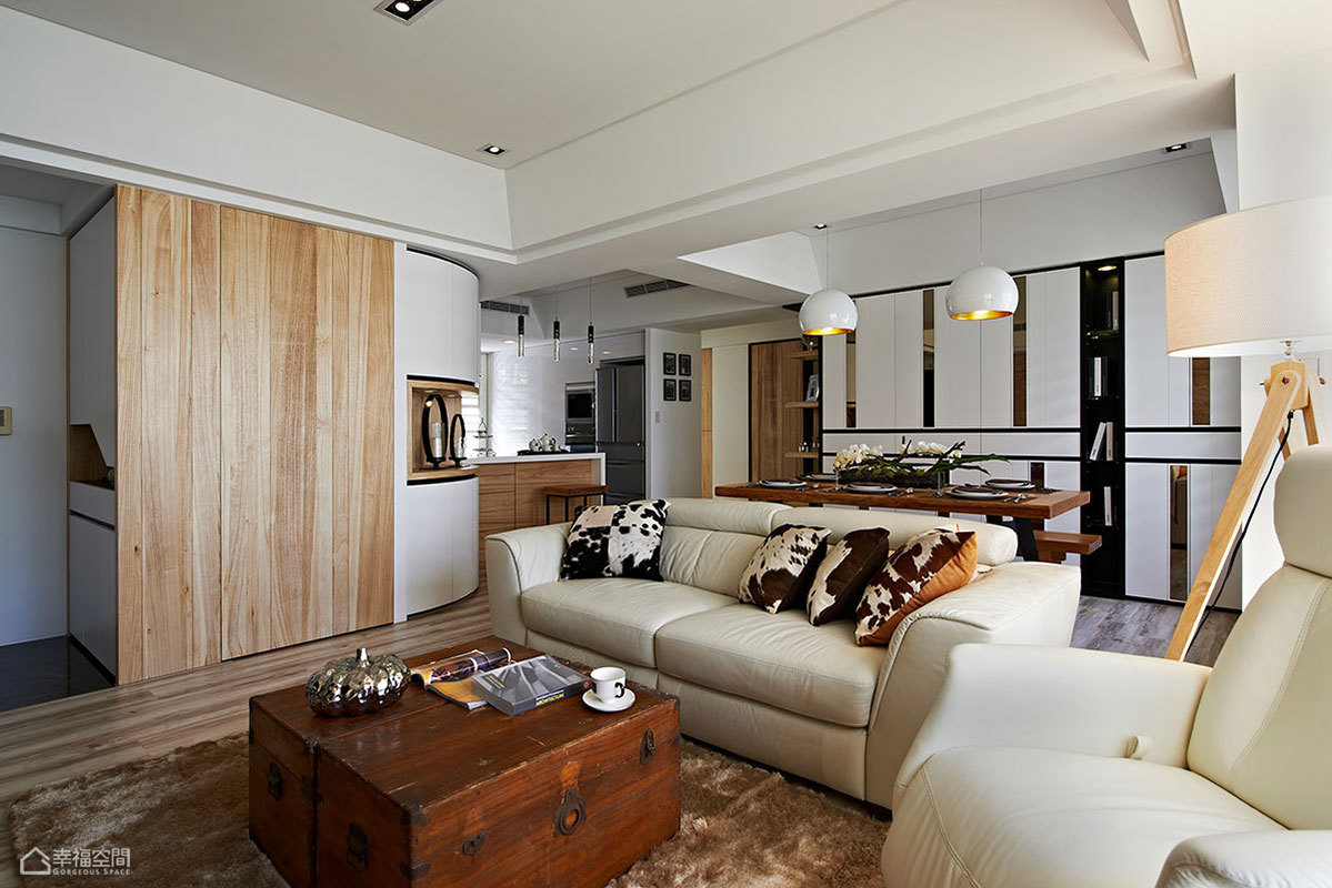 现代简约风格时尚旧房改造设计图纸_齐家网装修效果图