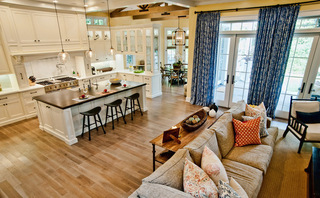 厨房里的休闲空间 给家人欢乐时光