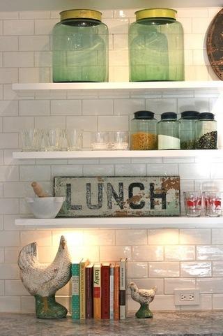 厨房中的收纳空间布置