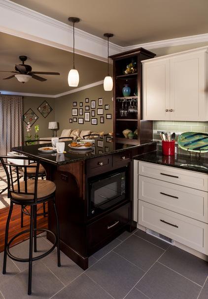 美式风格稳重厨房装修图片