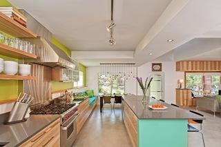 黄绿色系可爱厨房   让你抱抱快乐进食