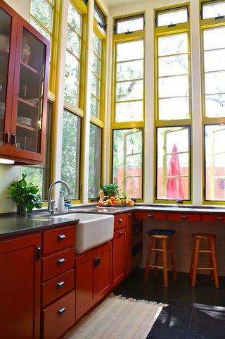8种厨房台盆欣赏  洗净的食物更绿色健康