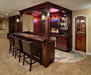 美式风格及北欧、欧式风格吧台装修集锦