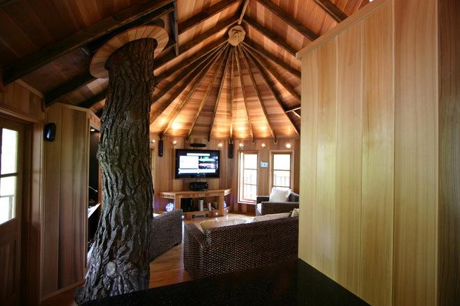 森林里的小木屋 艺术田园风格公寓_齐家网装修效果图