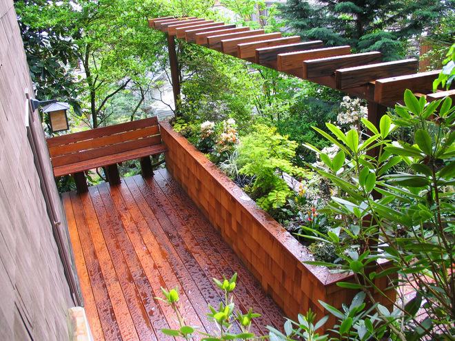 喜欢木质的味道  5款木质花园设计