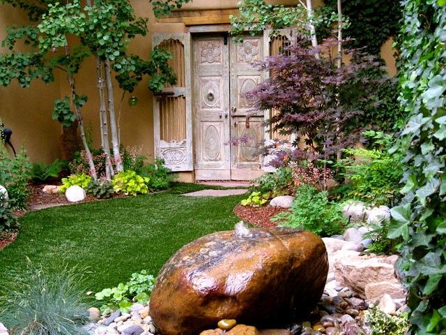 土墙庭院大变身 新中式园林庭院装修欣赏