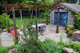 缤纷美式乡村风花园装修 阳光下的灿烂色彩