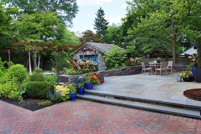 现代风别墅庭院花园装修欣赏_齐家网装修效果图图片