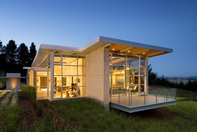 現代建筑:俄勒岡州家庭應對景觀