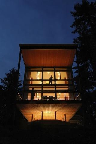 夜晚灯光中的各种现代别墅欣赏