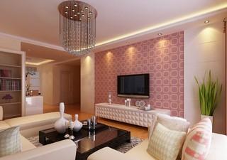 8款客厅清新简洁电视背景墙