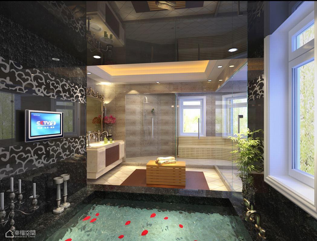欧式风格别墅豪华整体卫浴效果图