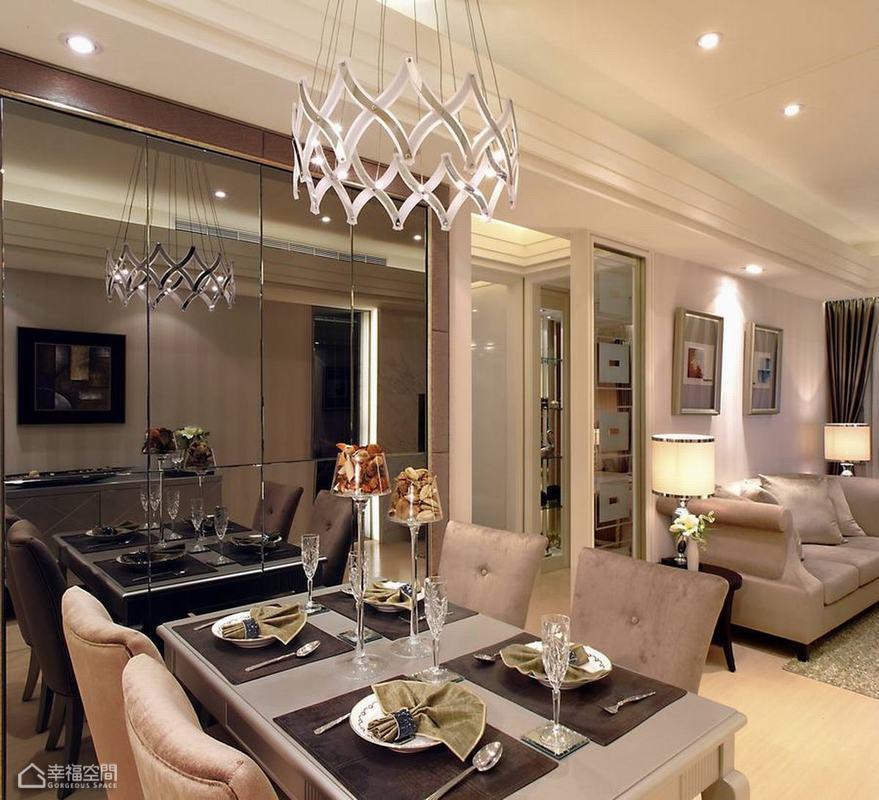 美式风格公寓温馨餐桌效果图