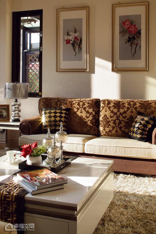 新古典风格别墅舒适沙发背景墙效果图