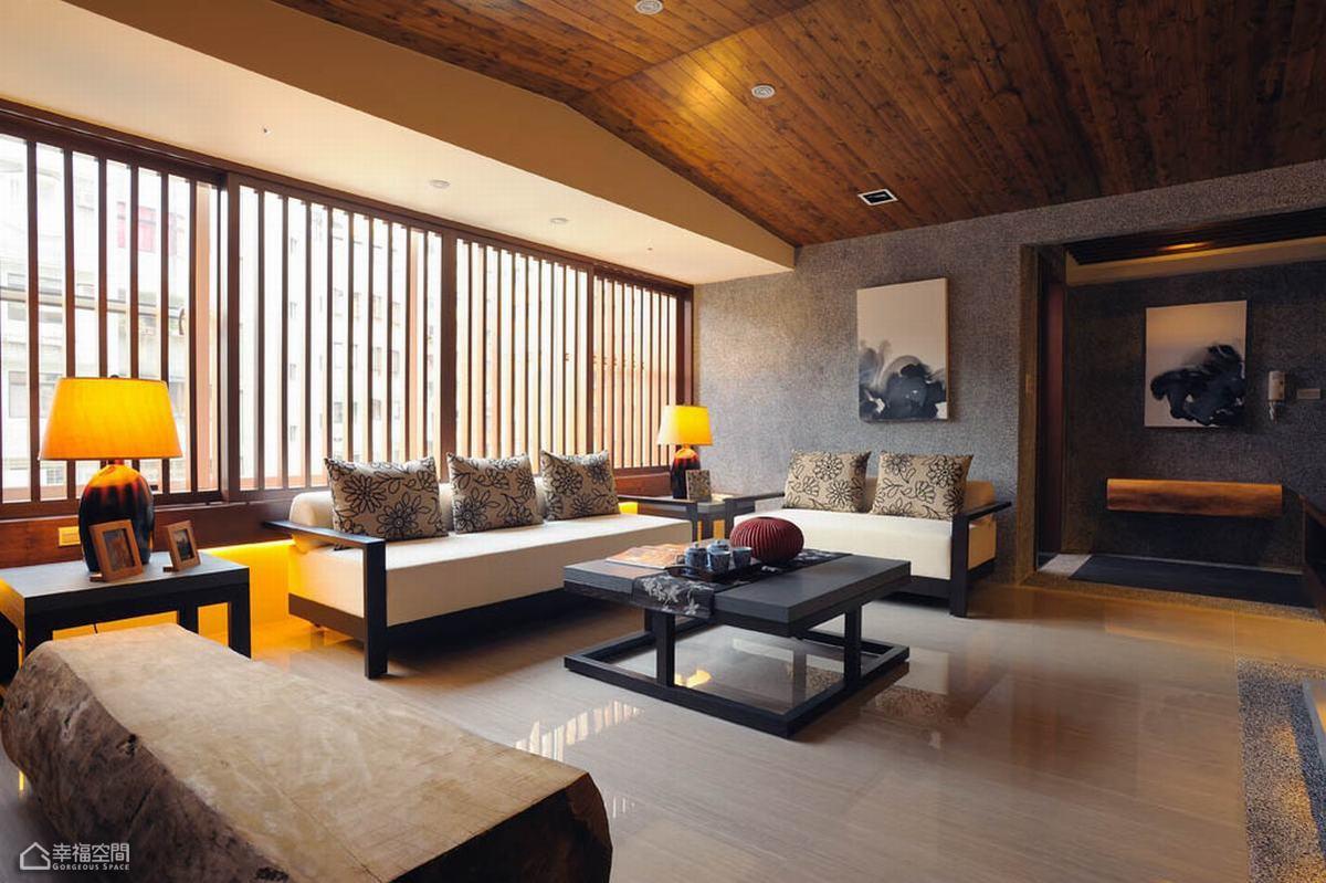 日式风格公寓温馨客厅装潢