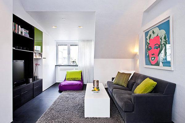 节省空间新方案 30图小户型客厅设计24/30