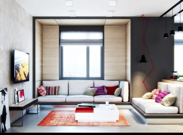 节省空间新方案 30图小户型客厅设计26/30