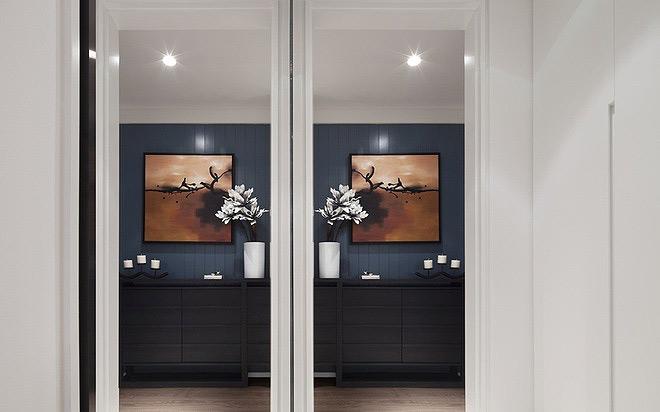 现代简约风格时尚130平米设计图
