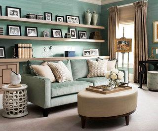 宜家风格绿色客厅宜家沙发效果图
