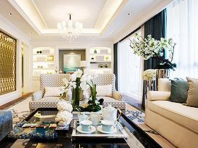 360平别墅设计图 蓝白色淡雅风