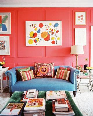 欧式风格暖色调欧式客厅装潢