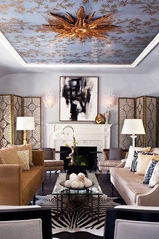 欧式风格奢华欧式客厅装潢
