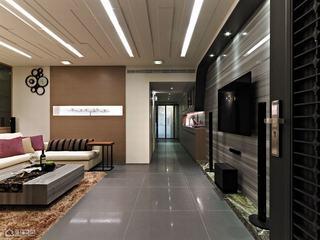 现代简约风格公寓简洁过道装修图片