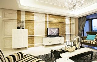 欧式风格欧式客厅欧式电视背景墙效果图