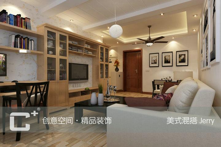 60平一房现代简约混搭美式6万单身公寓Jerry