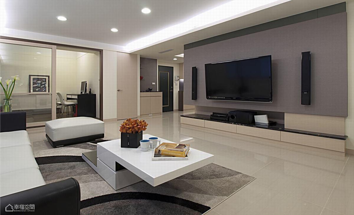 简约风格舒适客厅旧房改造家装图片
