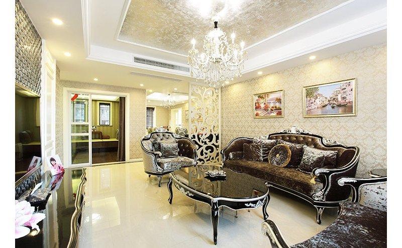 欧式4房2厅 紫色花园装修效果图,室内设计效果图 齐家装修网高清图片