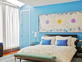 享受夏日清凉时光 18款蓝色主题背景墙