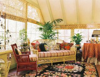 田园风格温馨暖色调客厅装修效果图
