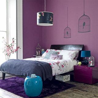 紫色卧室打造优雅私人空间