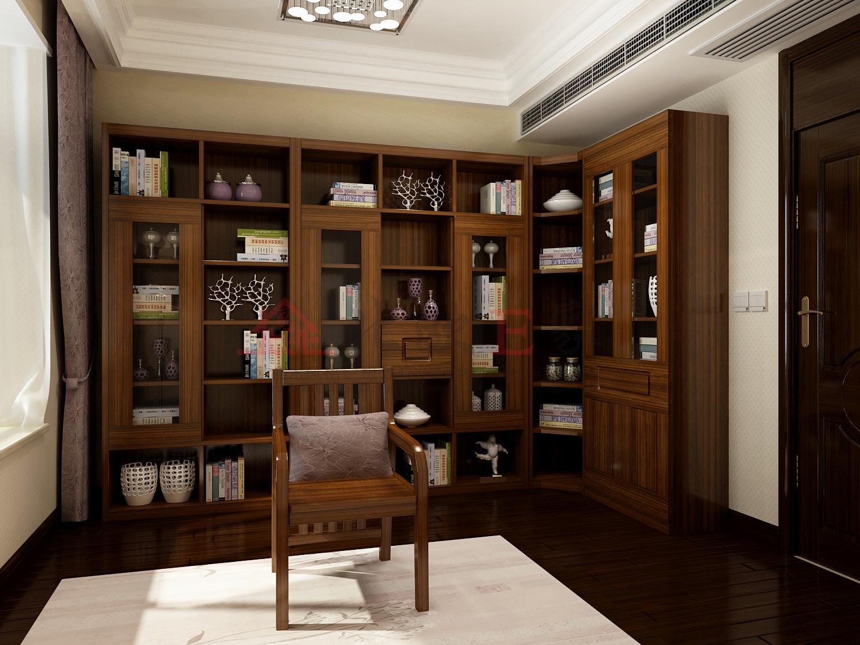 满满的书香气息 中式书房不失优雅图片
