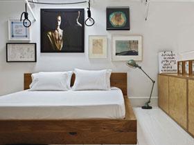 原木與白色的完美融合的溫馨臥室