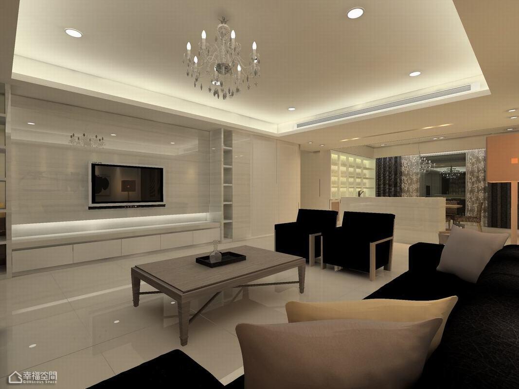 简约风格公寓简洁客厅设计图纸