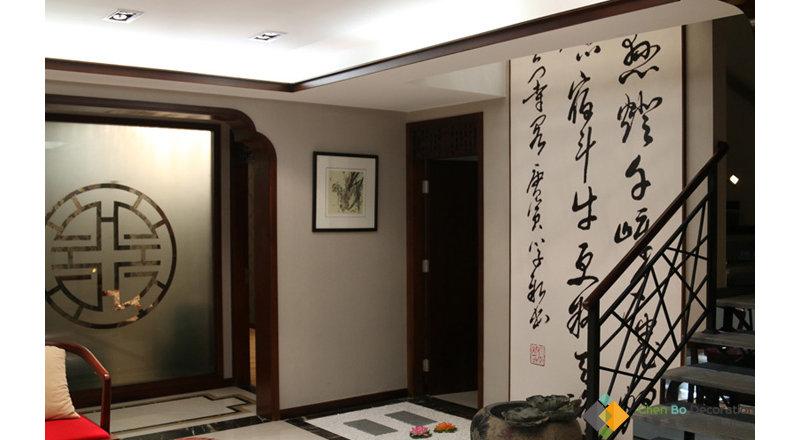 5 10万中式二居室装修效果图,新中式装修案例效果图 齐家装修网