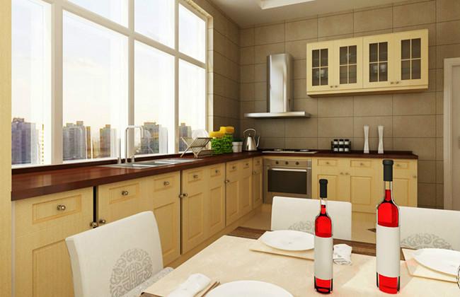 中式风格简洁暖色调厨房餐桌图片