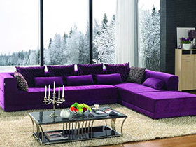 優雅紫色沙發6套圖