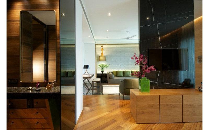 15 20万130平米简约三居室装修效果图,个性家园装修案例效果图 齐高清图片