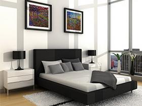 最大程度簡潔的臥房家具極具中性色彩