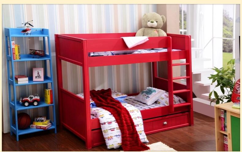 可爱红色卧室儿童床图片