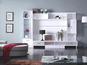 白色时尚简洁电视柜